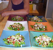cindy's summer salad on deep sq dinners