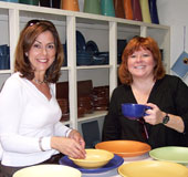 christine from CT & laura, a local, pick out plates